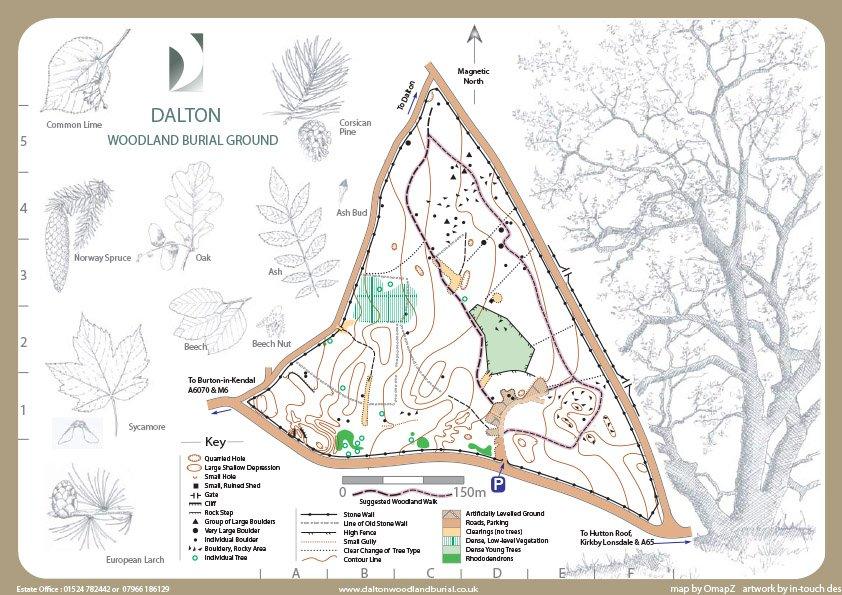 Dalton Woodland Burial Ground Map copy