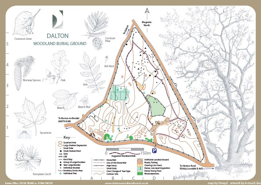 Dalton Woodland Burial Ground Map copy